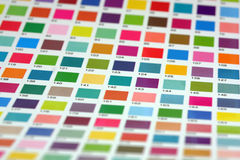 Color table Royalty Free Stock Photo