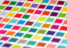 Color table Royalty Free Stock Image