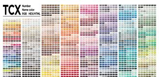 Free Color Table Pantone FHI System. Vector Color Palette With Number, Named Color Swatches, Chart Conform To Pantone RGB, HTML And HEX Royalty Free Stock Photo - 148098765