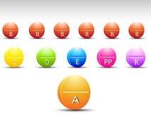 Color tablet vitamin Royalty Free Stock Photos