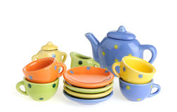 Color tableware stock image