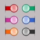 Color tabs vector illustration