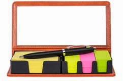 Color  tags and labels. Colorful  tags and labels collection in box Stock Images