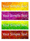 Color Tags with Leaves, Set Royalty Free Stock Photos