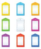 Color tags, set Stock Image