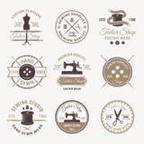 Color Tailor Emblem Set Royalty Free Stock Image