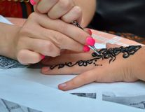 Color tattoos: value, pics, thumbnails. Royalty Free Stock Image
