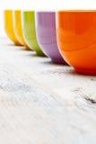 Color tea cups Stock Image