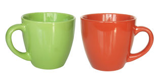 Color tea cups Stock Photography