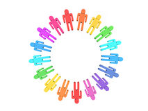 Color teamwork Royalty Free Stock Photo