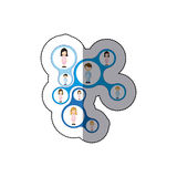 Color teamwork people icon. Illustraction design Royalty Free Stock Photo