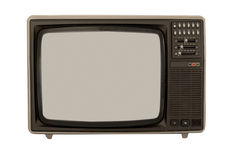 Color Television from the 80's Royalty Free Stock Photo