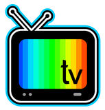 Color television screen Stock Photography