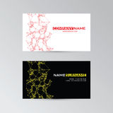 Color template of business cards with abstract elements Royalty Free Stock Photography