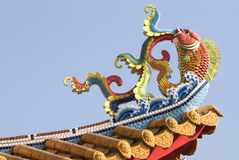 Color temple roof. Royalty Free Stock Image