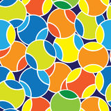 Color tennis balls seamless pattern Royalty Free Stock Image
