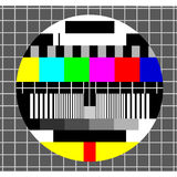 Color test tv background Stock Photography