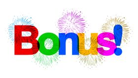 Free Color Text Bonus Banner With Colorful Fireworks - Vector Stock Images - 163552304