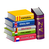 Color textbooks Royalty Free Stock Image