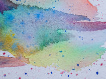 Color and texture of water color on paper Stock Images