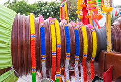 Color Thai plastic garland Stock Image