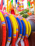 Color Thai plastic garland Royalty Free Stock Photos
