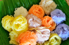 Color thai rice vermicelli Royalty Free Stock Image