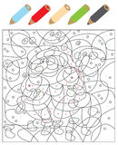 Color The Dots Visual Game Royalty Free Stock Photos