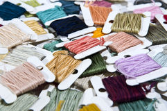 Color thread. Colorful silk thread,Tailoring use Stock Image