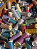 Color thread. In street market Stock Photos