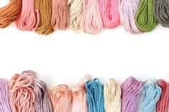 Color thread. The color thread is on white background Royalty Free Stock Photography