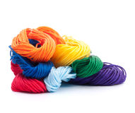 Color threads bunch Royalty Free Stock Photography