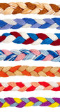 Color threads in a form of braid Royalty Free Stock Photography