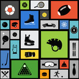 Color tile with sport icons Royalty Free Stock Image