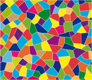 Color tiles mosaic. Colorful glass mosaic in hues of blue, purple, red and green stock illustration