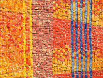 Color tiles mosaic texture Royalty Free Stock Photos