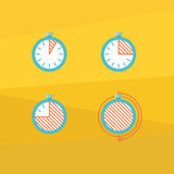 Color timer icons Royalty Free Stock Photo