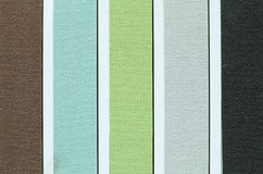 Color tone of fabric swatch samples Stock Images