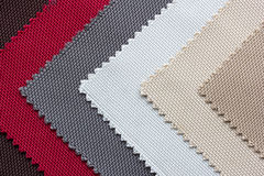 Color tone of fabric swatch samples. Background royalty free stock photography