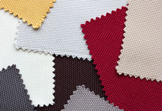 Color tone of fabric swatch samples. Background stock image
