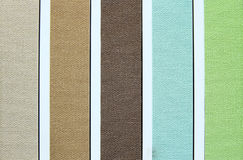 Color tone of fabric swatch samples Royalty Free Stock Photography