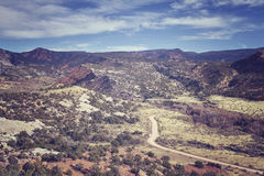 Color toned dirt road in Dinosaur National Monument, USA royalty free stock photo