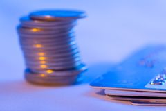 Color toned finance concept photo Royalty Free Stock Photography