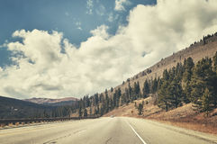Color toned highway, travel concept photo Stock Photography