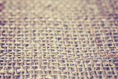Color toned picture of natural linen texture or background. Royalty Free Stock Photo