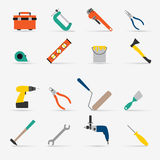 Color tools for repair and home improvement. Vector illustration Royalty Free Stock Photography