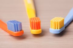 Color toothbrushes Royalty Free Stock Photos