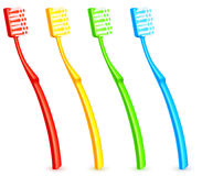 Color toothbrushes. Royalty Free Stock Photography