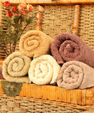 Color towels Stock Photo