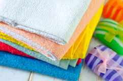 Color towels Royalty Free Stock Photos